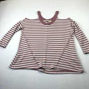 Liberty Love Top Size S Oversized Thermal Striped